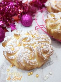 Brioches bouclettes de Noël #brioche #noel #iletaitunefoislapatisserie