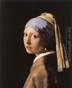 """Girl with the Pearl Earring"" by Johannes Vermeer From the Metropolitan Gallery of Art : With Rembrandt and Frans Hals , Vermeer ran. Johannes Vermeer, Most Famous Paintings, Famous Artwork, Classic Paintings, Delft, Girl With Pearl Earring, Pearl Earing, Tableaux Vivants, Love Art"