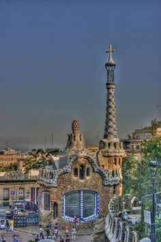 Gaudi architecture in Parc Guell, Barcelona, Spain. This is an HDR from a single RAW image. My first attempt at HDR.   Barcelona Airport Private Arrival Transfer Barcelona Airport  Arrival Shuttle Transfer Vacations in Barcelona The best sightseeing tours in Barcelona and Cataloni
