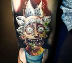 Rick tattoo by Kegan Hawkins