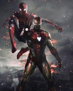 Spiderman and Ironman HD Wallpaper - Avengers Endgame Marvel Dc Comics, Marvel Avengers, Iron Man Avengers, Iron Man Spiderman, Marvel Heroes, Captain Marvel, Captain America, Spiderman Spiderman, Amazing Spiderman