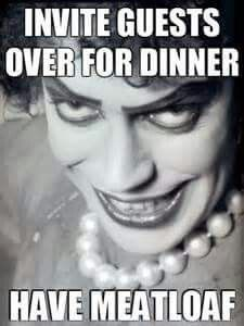 the rocky horror picture show memes. Invite guests over for dinner, have meatloaf Rocky Horror Show, The Rocky Horror Picture Show, Movies Showing, Movies And Tv Shows, Horror Party, Time Warp, Oui Oui, Silhouette, Horror Movies