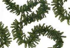 100 x 8 Commercial Length Canadian Pine Artificial Christmas Garland - Unlit. Commercial Length Canadian Pine Artificial Christmas GarlandItem #FMC-1007T8GProduct features:Unlit2000 tipsCommercial lengthNatural 2-tone green color Bendable wire for easy shaping to help accommodate your decorating needsWire hook on endFor indoor/outdoor useFlame retardant Dimensions: 100 feet long x 8 inches wideMaterial(s): PVC/metal