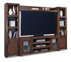 Equinox Knotty Alder Wall Unit at HOM Furniture | Furniture Stores in Minneapolis Minnesota & Midwest $1400