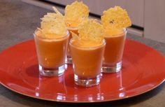 Recette - Mousse de tomate et tuile au parmesan - Notée 4.7/5 par les internautes