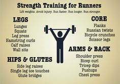 Strength training for runners! Via Canadian girl runs. Strength training for runners! Via Canadian girl runs. Strength training for runners! Via Canadian girl runs. Running Workouts, Running Training, Running Tips, At Home Workouts, Sprint Workout, Beginner Running, Track Workout, 10k Training Plan, Kids Workout