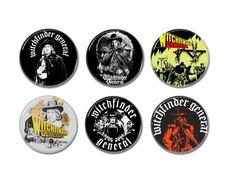 6 x Vincent Price Witchfinder General button, badges.  #vincentprice #witchfindergeneral #dracula #hopkinswitchfindergeneral #mathewhopkins #buttons #badges