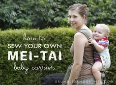 how to sew a mei-tai baby carrier | grumbles and grunts