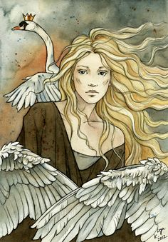 "Eliza from ""The Wild Swans"" by Hans Christian Andersen by ~liga-marta at deviantart"