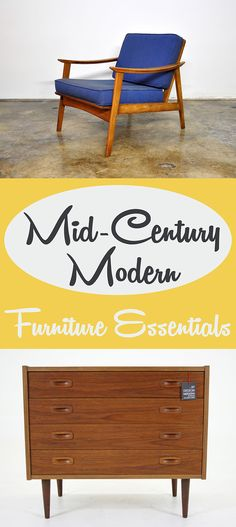 Mid-Century Modern Furniture Essentials | Sleek lines, low profiles, skinny legs, pops of color – all these and more define the popular Mid-Century Modern style. Check out these furniture essentials and start incorporating them into your home! | #Ad