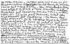 Dear Marilyn Manson, XOXO Charles Manson