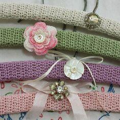 "Wild Rose Vintage: ""Semi"" Vintage Crochet Hangers"