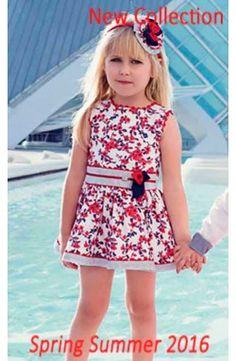 Vestido de niña sin mangas rojo Dolce Petit
