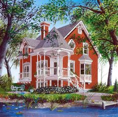 Elevation of Victorian   House Plan 64934