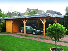 Carport mit Abstellraum und Blende. Auch Solaranlagen, Dacheindeckungen und Abdichtungsarbeiten gehören zum Repertoir von Quanter & Colberg GmbH in Hamburg (22337)   Dachdecker.com