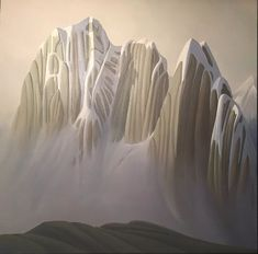 Ken Harrison - South Howser Tower 40 x 40 Oil on canvas (2020) Jasper Park, Banff Springs, Park Lodge, Magic Realism, Canadian Artists, Abstract Expressionism, Oil On Canvas, Tower, Sculpture
