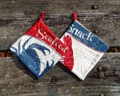 Fish Market Pot Holder Set of 2 by marylandquilter on Etsy, $15.00