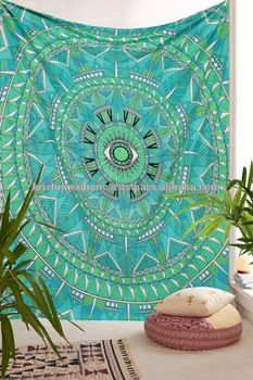 Cotton green floral Indian Tapestry Wall Hanging Hippie Wall Tapestries