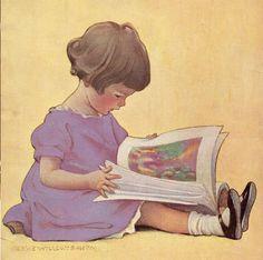 Little Reader Vintage Wall Art