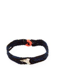 Dezso by Sara Beltran Silver Shark Tooth Friendship Bracelet