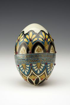 Marianne Lurie's traditional, delicate, and beautiful psanky eggs. Very different