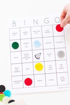 DIY World Games Watch Party Ideas + Printable Bingo Cards - Sugar & Cloth