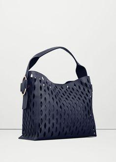 Tasche mit perforiertem design -  Damen | MANGO Deutschland
