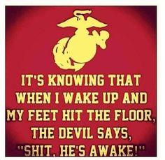 Marine Corps humor.