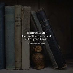 Bibliosmia (n.) The smell and aroma of old or good books! Uplifting memories as I kid reading books! Unusual Words, Weird Words, Rare Words, Unique Words, New Words, Cool Words, Interesting Words, Fancy Words, Pretty Words
