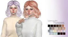 Marlie-s: LeahLillith Soundwave hair retextured - Sims 4 Hairs - http://sims4hairs.com/marlie-s-leahlillith-soundwave-hair-retextured/