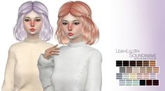 Marlie-s: LeahLillith Soundwave hair retextured  - Sims 4 Hairs - http://sims4hairs.com/marlie-s-leahlillith-soundwave-hair-retextured/