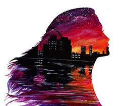 UK based self employed artist Danielle Foye, has an eye for creating a wide range of watercolor paintings and designs. She has painted a variety of dreamy landscapes using a range of mixed media an… Cool Art Drawings, Beautiful Drawings, Art Drawings Sketches, Galaxy Painting, Galaxy Art, Silhouette Painting, Disney Art, Painting & Drawing, Amazing Art