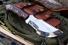 CFK USA Ipak Survival Custom Handmade D2 EDC Tactical Saw Back Tracker Knife 2nd   eBay