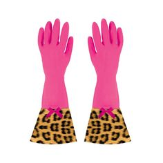Red Leopard Washing Up Gloves