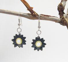 Recycled inner tube earrings