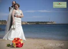 24th June 2014 - Amy and Carl on their Algarve Beach Wedding day! We just love this bouquet shot!