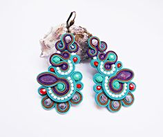 Panka gyöngye: Soutache jewelry, beading tutorials