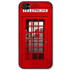 London telephone box - iphone 4 case - iphone 4s cover - telephone box... ($16) ❤ liked on Polyvore