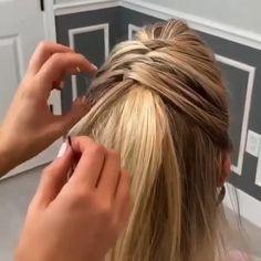 Hairdo For Long Hair, Bun Hairstyles For Long Hair, Braids For Short Hair, Braided Hairstyles, Easy Hairstyles For Work, Short Hair Braids Tutorial, Braided Bangs Tutorial, Dinner Hairstyles, Quick Hairstyles