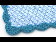 DROPS Crochet Tutorial: How to crochet a border - YouTube