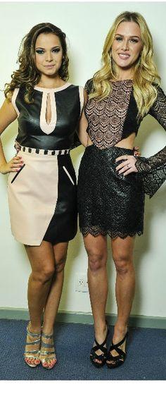 Milena Toscano e Fiorella Mattheis na Minas Trend Preview