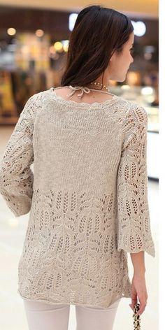 2thjkjkk (259x519, 333Kb) Knitting Patterns Free, Free Pattern, Crochet Stitches, Knit Crochet, Vogue Knitting, Summer Knitting, Pullover, Womens Fashion, Sweaters
