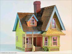 Casa de palito de picolé. / Popsicle stick house.