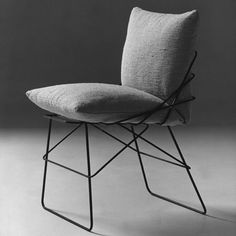 'Sof Sof' chair with iron rod structure, from Driade (re-issued by Robots), by Enzo Mari, 1971