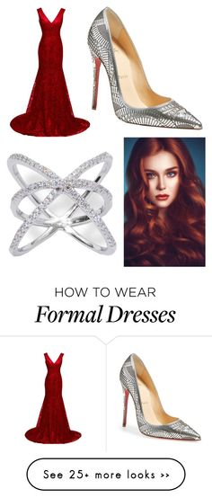 """Emmy Outfit"" by lulu654 on Polyvore featuring Christian Louboutin"