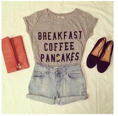 breakfast  coffee  pancakes  -HAPPY