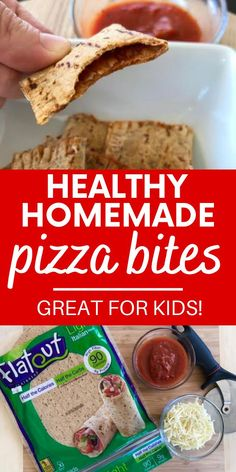 Need a healthy afterschool snack idea?  Try these homemade pizza bites!  Made with high fiber flatbreads and baked, these are a healthy pizza treat.  You only need a few ingredients to make this easy recipe. (sponsored).
