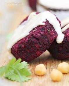 Beetroot falafel recipe by Trinity - gluten-free vegan