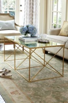 Montparnasse Coffee Table - Provencal Coffee Table, Mirrored Coffee Table   Soft Surroundings