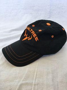 06ab7c99a06 REALTREE LOGO SOLID BLACK HAT CAP COTTON Adjustable